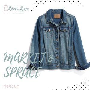 Market & Spruce Boyfriend Denim Jacket